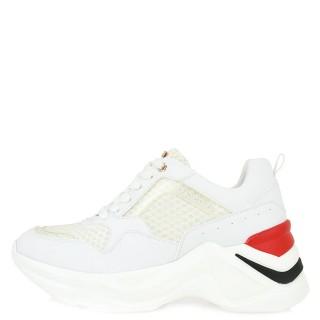 Γυναικεία Sneakers 106 21ΕΧ117 Ύφασμα Eco Leather Λευκό Κόκκινο Renato Garini