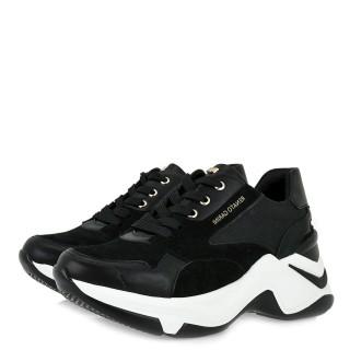Γυναικεία Sneakers 106 21EX118 Eco Leather Eco Suede Μαύρο Renato Garini