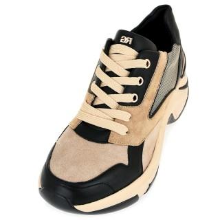 Γυναικεία Sneakers 106 21EX118 Eco Leather Eco Suede Μαύρο Camel Renato Garini