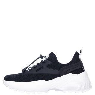 Γυναικεία Sneakers 11361 Ελαστικό Ύφασμα Μαύρο Renato Garini