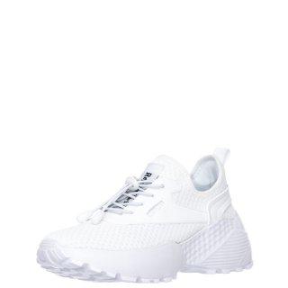 Γυναικεία Sneakers 11361 Ελαστικό Ύφασμα Λευκό Renato Garini