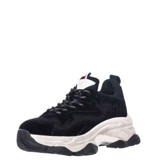 Γυναικεία Sneakers D190714 5 Eco Suede Μαύρο Renato Garini