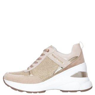 Γυναικεία Sneakers 179 21EX11 Eco Leather Eco Suede Μπεζ Χρυσό Renato Garini
