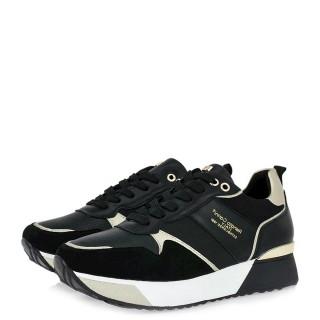 Γυναικεία Sneakers 18 21EX159 Eco Leather Eco Suede Μαύρο Renato Garini