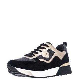 Γυναικεία Sneakers 18 21EX20 Eco Leather Eco Suede Μαύρο Χρυσό Renato Garini