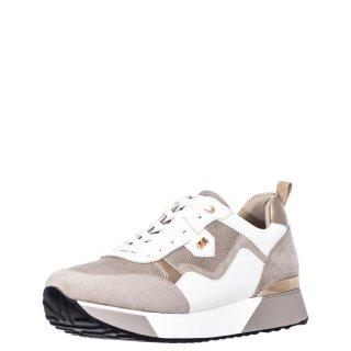 Γυναικεία Sneakers 18 21EX20 Eco Leather Eco Suede Λευκό Χρυσό Renato Garini