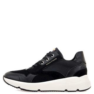 Γυναικεία Sneakers 199 21EX117 Eco Leather Eco Suede Μαύρο Renato Garini