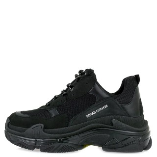 Γυναικεία Sneakers 21EX142 Ύφασμα Eco Leather Μαύρο Renato Garini