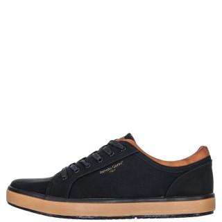 Ανδρικά Sneakers 3156 4NEW Eco Leather Μαύρο Renato Garini
