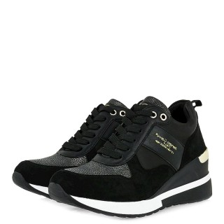 Γυναικεία Sneakers 34 21RG01 Eco Leather Eco Suede Μαύρο Renato Garini