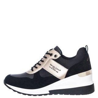 Γυναικεία Sneakers 34 21RG01 Eco Leather Eco Suede Μαύρο Χρυσό Renato Garini