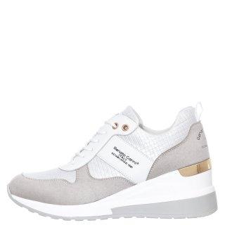 Γυναικεία Sneakers 34 21RG01 Eco Leather Eco Suede Λευκό Ασημί Renato Garini