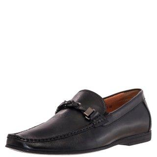 Ανδρικά Μοκασίνια & Loafers AT2849 1 Δέρμα Μαύρο Renato Garini
