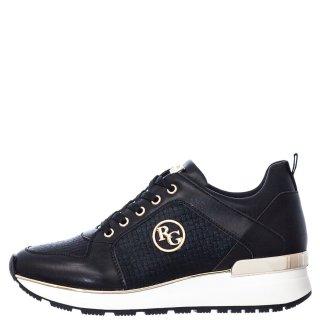 Γυναικεία Sneakers EX2108 Eco Leather Μαύρο Renato Garini
