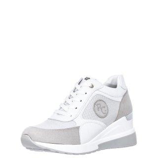 Γυναικεία Sneakers EX2141 Eco Leather Eco Suede Λευκό Ασημί Renato Garini