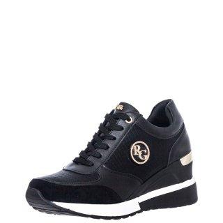 Γυναικεία Sneakers EX9929 Eco Leather Eco Suede Μαύρο Renato Garini