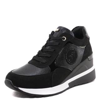 Γυναικεία Sneakers EX9936 RG8250 Eco Suede Eco Leather Φίδι Μαύρο Renato Garini