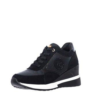 Γυναικεία Sneakers EX9936 Eco Leather Eco Suede Μαύρο Renato Garini