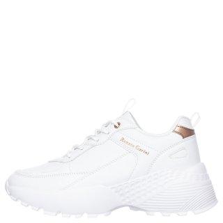Γυναικεία Sneakers FW9157 Eco Leather Λευκό Ροζ Χρυσό Renato Garini