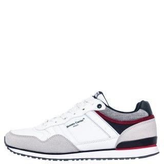 Ανδρικά Sneakers HW M890618 Ύφασμα Eco Suede Λευκό Renato Garini