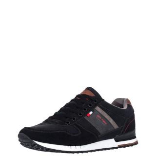 Ανδρικά Sneakers HW M89081 Eco Suede Μαύρο Renato Garini