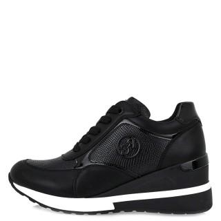 Γυναικεία Sneakers NEW EX9936 Eco Leather Eco Leather Φίδι Μαύρο Renato Garini