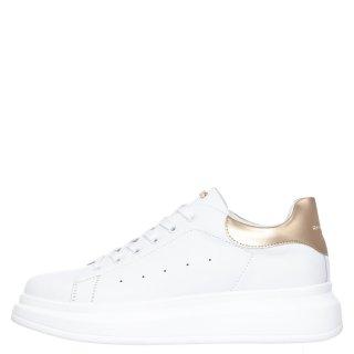 Γυναικεία Sneakers RG2101 Eco Leather Λευκό Χρυσό Renato Garini