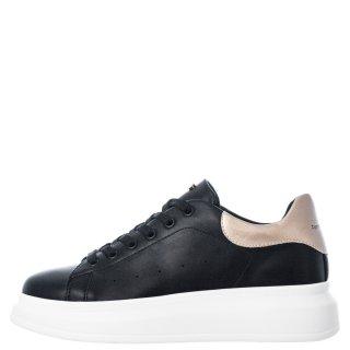 Γυναικεία Sneakers RG2101 Eco Leather Μαύρο Χρυσό Renato Garini