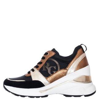 Γυναικεία Sneakers RG2214 Ύφασμα Eco Leather Μπρονζέ Renato Garini