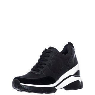 Γυναικεία Sneakers RG2214 Ύφασμα Eco Leather Μαύρο Renato Garini