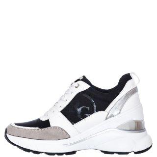 Γυναικεία Sneakers RG2214 Ύφασμα Eco Leather Λευκό Renato Garini