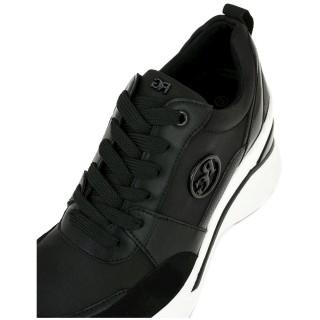 Γυναικεία Sneakers RG2214B Eco Leather Σατέν Μαύρο Renato Garini