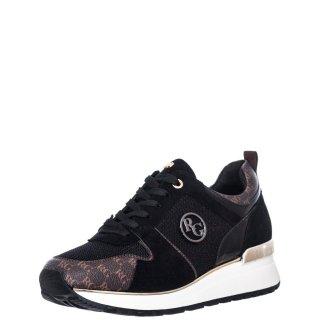 Γυναικεία Sneakers RG2227 Eco Leather Eco Suede Μαύρο Καφέ Renato Garini