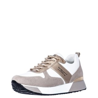 Γυναικεία Sneakers RG2262 Eco Leather Λευκό Χρυσό Renato Garini