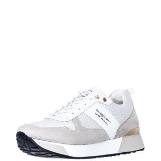 Γυναικεία Sneakers RG2262 Eco Leather Λευκό Ασημί Renato Garini
