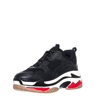 Γυναικεία Sneakers SHN007 03AAM Eco Leather Μαύρο Renato Garini