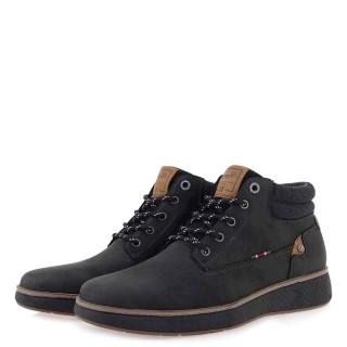 Ανδρικά Μποτάκια 20A441 Eco Leather Μαύρο Rhapsody