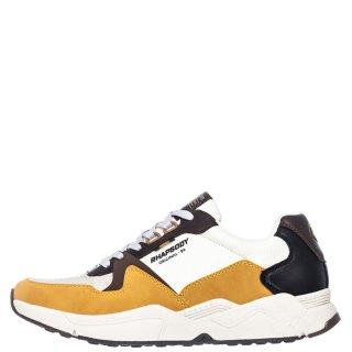 Ανδρικά Sneakers 909443 Ύφασμα Eco Leather 'Ωχρα Rhapsody