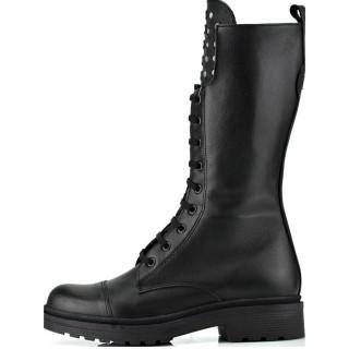 Γυναικείες Μπότες 7112 155 Δέρμα Μαύρο Robinson