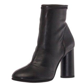 Γυναικεία Μποτάκια 18 185 Ελαστικό Eco Leather Μαύρο Sante