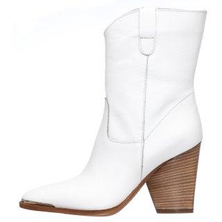 Γυναικεία Μποτάκια 20 108 Δέρμα Λευκό Grumman