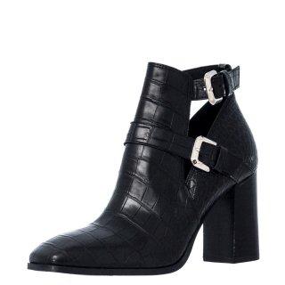 Γυναικεία Μποτάκια 20 524 Eco Leather Κροκό Μαύρο Sante