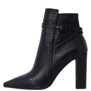 Γυναικεία Μποτάκια 20 549 Eco Leather Κροκό Μαύρο Sante