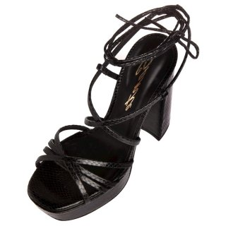 Γυναικεία Πέδιλα 21 255 Eco Leather Μαύρο Sante
