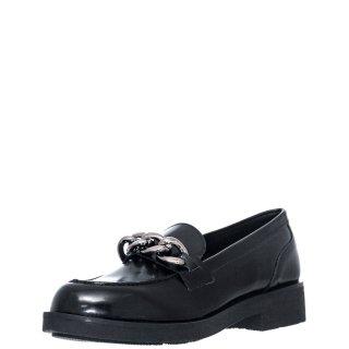 Γυναικεία Μοκασίνια 20 417 Eco Leather Μαύρο Sante Day2Day