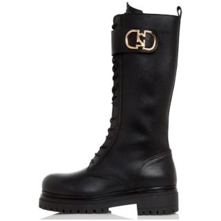 Γυναικείες Μπότες 21 410 Δέρμα Μαύρο Sante Day2Day