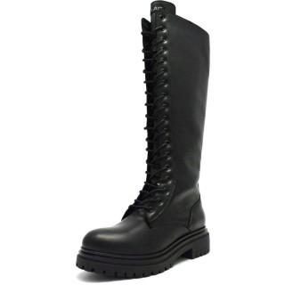 Γυναικείες Μπότες 21 415 Δέρμα Μαύρο Sante Day2Day