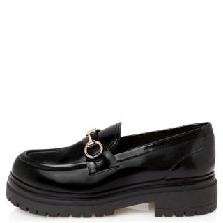 Γυναικεία Μοκασίνια 21 418 Φλωρεντίκ Eco Leather Μαύρο Sante Day2Day
