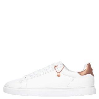 Γυναικεία Sneakers 10021 Eco Leather Φίδι Λευκό Seven