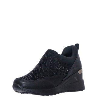 Γυναικεία Sneakers 17927J10 Eco Leather Eco Suede Μαύρο Seven
